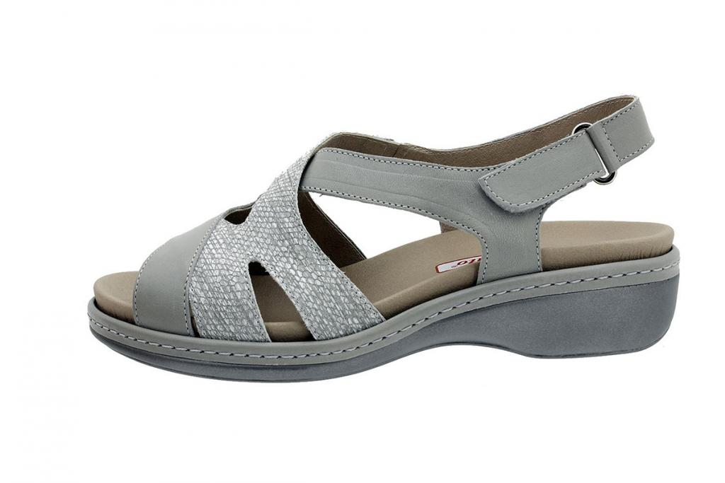 Removable Insole Sandal Grey Leather 180813