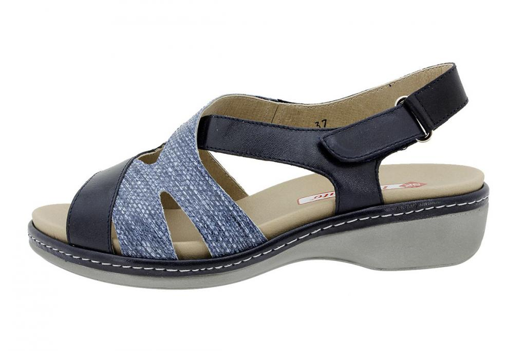 Removable Insole Sandal Blue Leather 180813