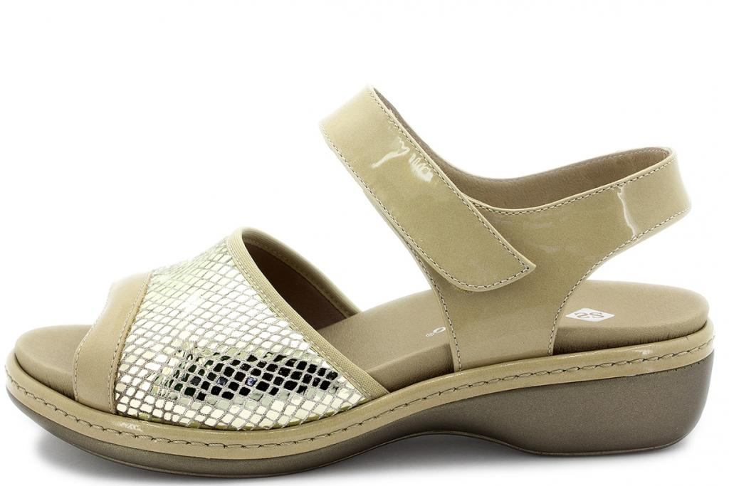 Removable Insole Sandal Beige Suede 180816