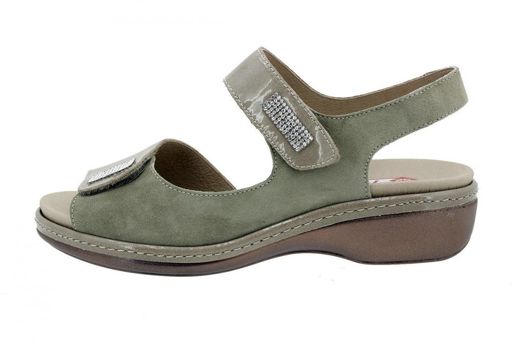 Removable Insole Sandal Mink Patent-Suede 180818