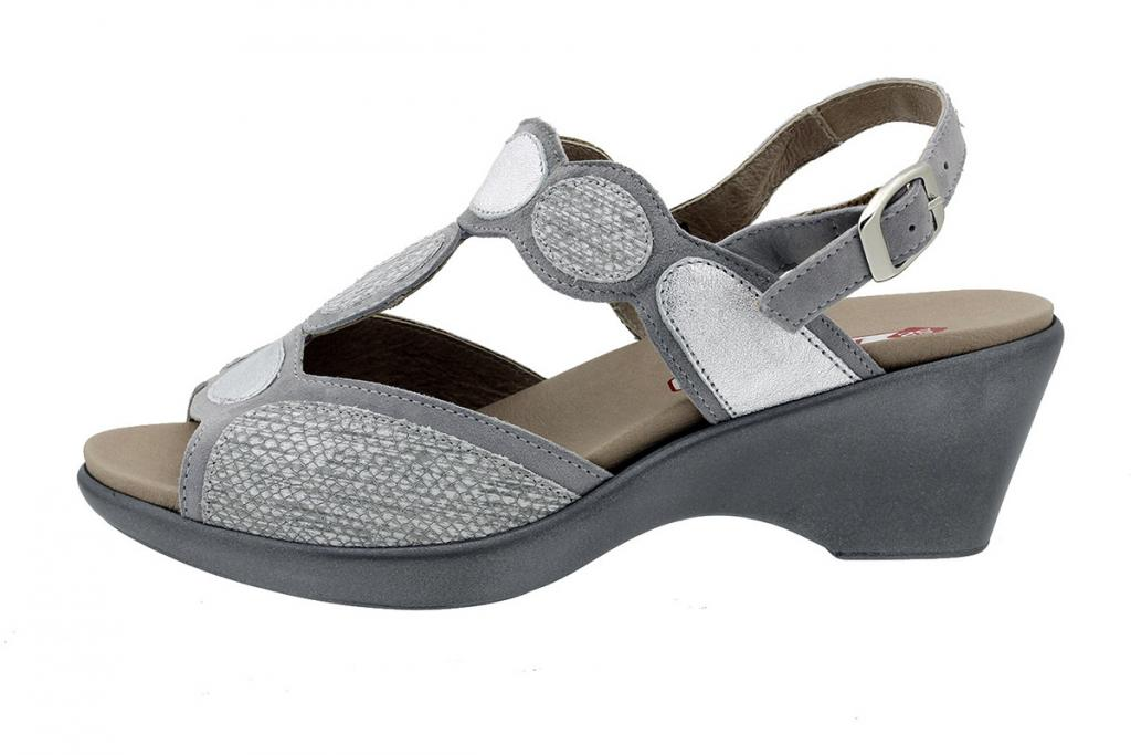 Removable Insole Sandal Grey Suede 180863