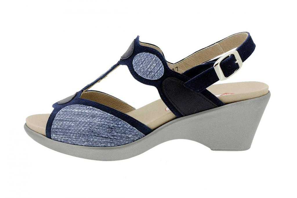Removable Insole Sandal Blue Suede 180863