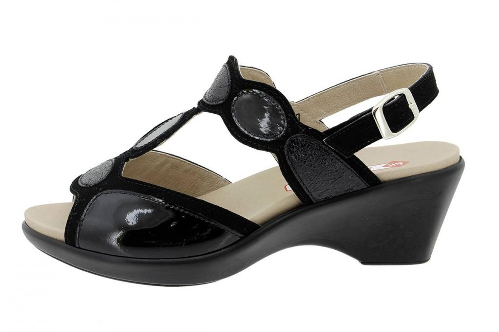 Removable Insole Sandal Black Suede 180863
