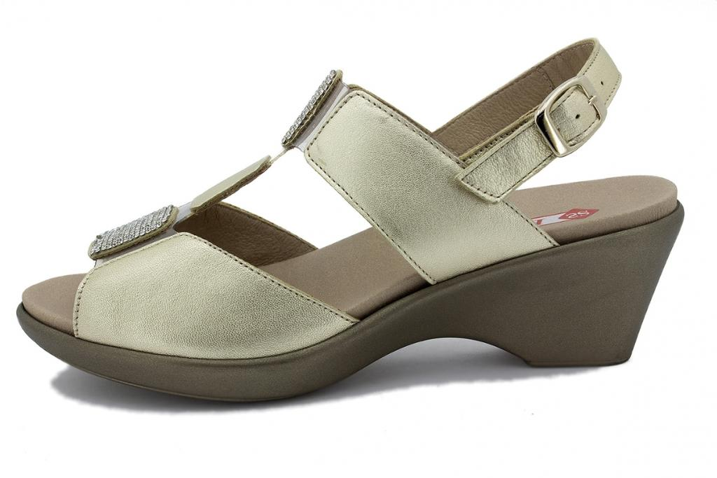 Removable Insole Sandal Grey Metal Suede 180869