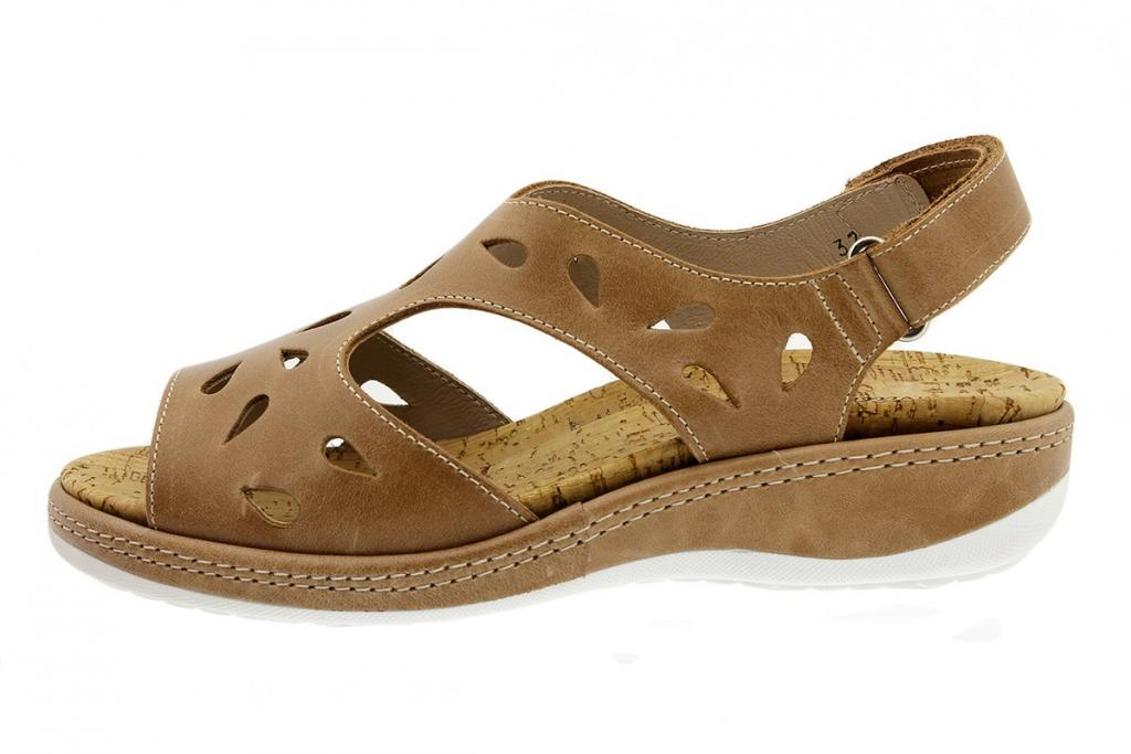 Removable Insole Sandal Tan Leather 180907