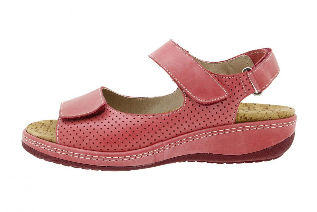 Removable Insole Sandal Red Leather 180911