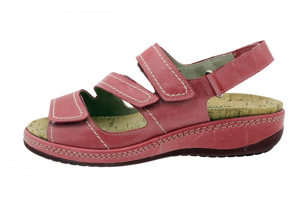 Removable Insole Sandal Red Leather 180915