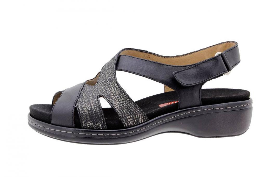 Removable Insole Sandal Leather Black 1813