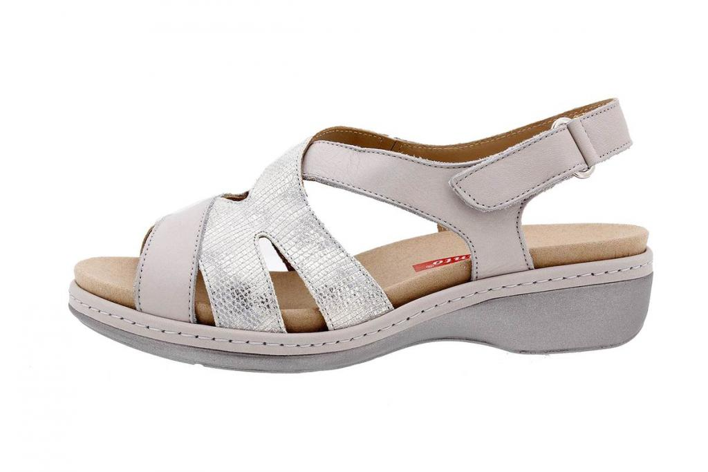 Removable Insole Sandal Leather Pearl 1813
