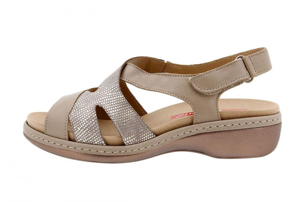 Removable Insole Sandal Leather Mink 1813