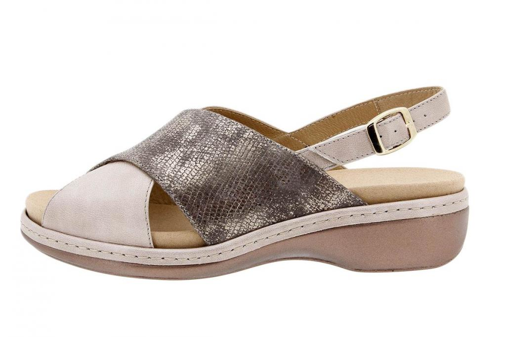 Removable Insole Sandal Metal Mink 1814