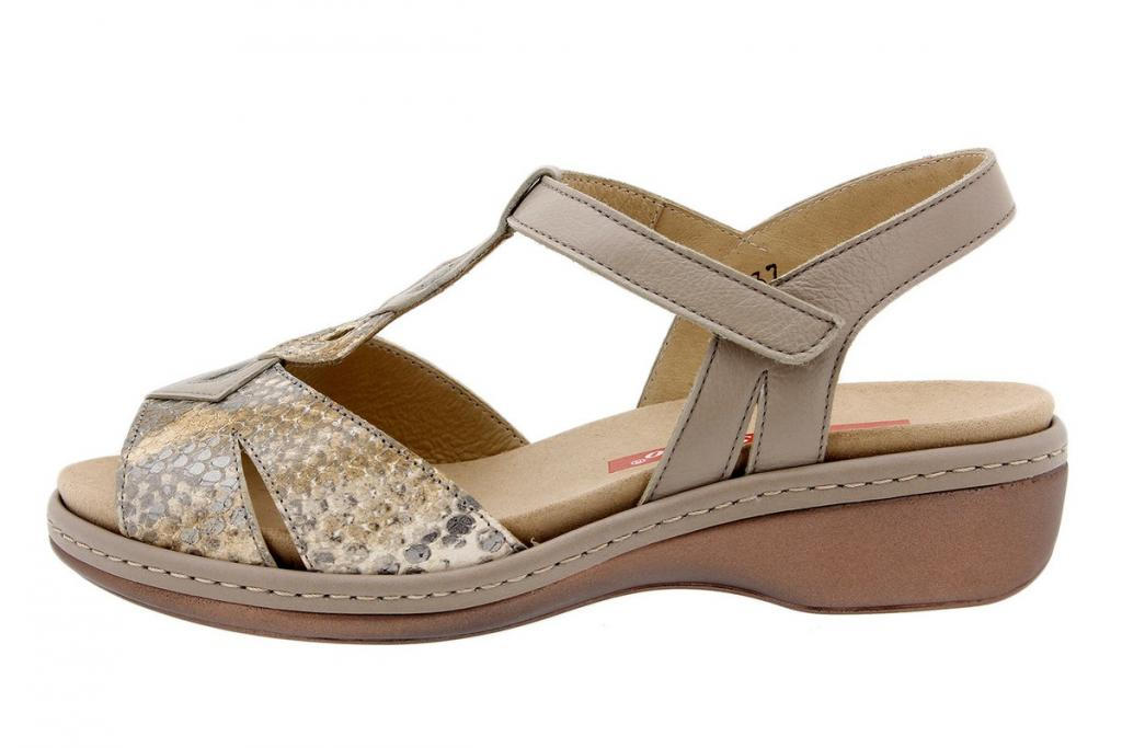 Removable Insole Sandal Snake Tan 1821