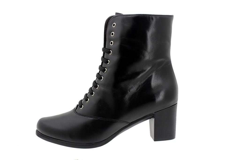 Ankle Boot Black Leather 185345