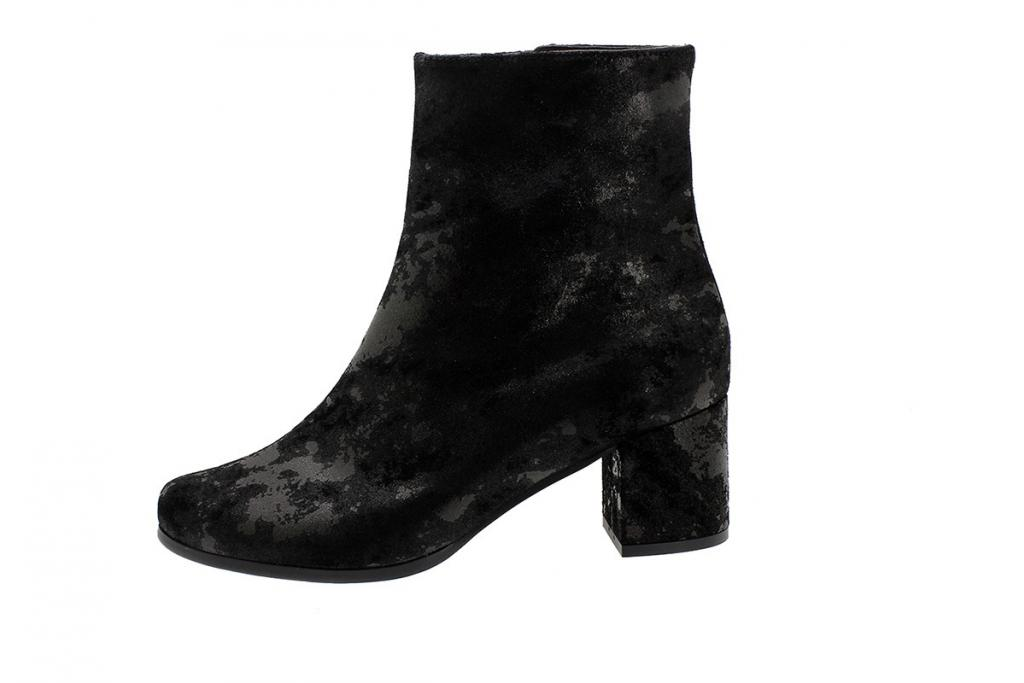 Ankle Boot Black Metal Suede 185387