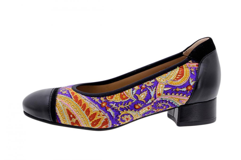 Ballerina Black-Violet Leather 185523T
