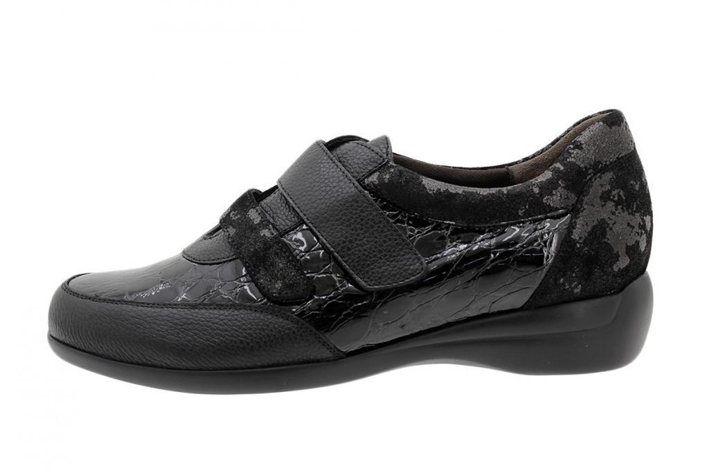 Velcro Shoe Black Leather 185576