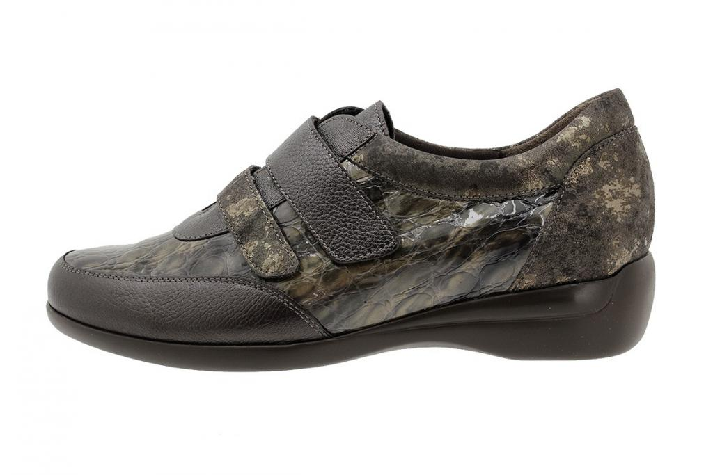 Velcro Shoe Brown Leather 185576