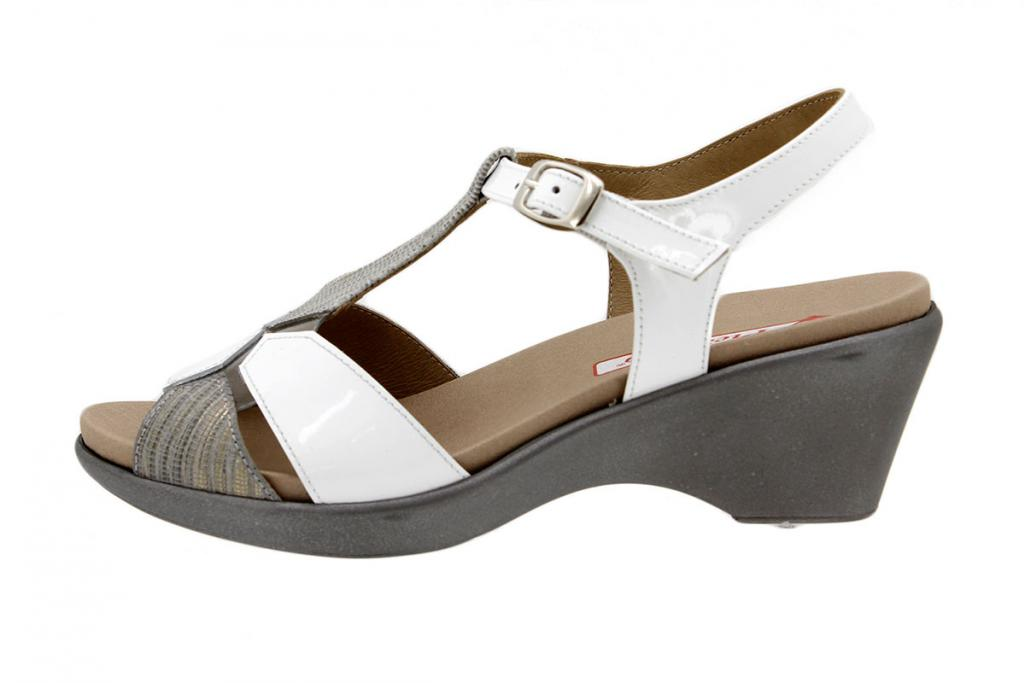 Removable Insole Sandal Snake Grey 1856