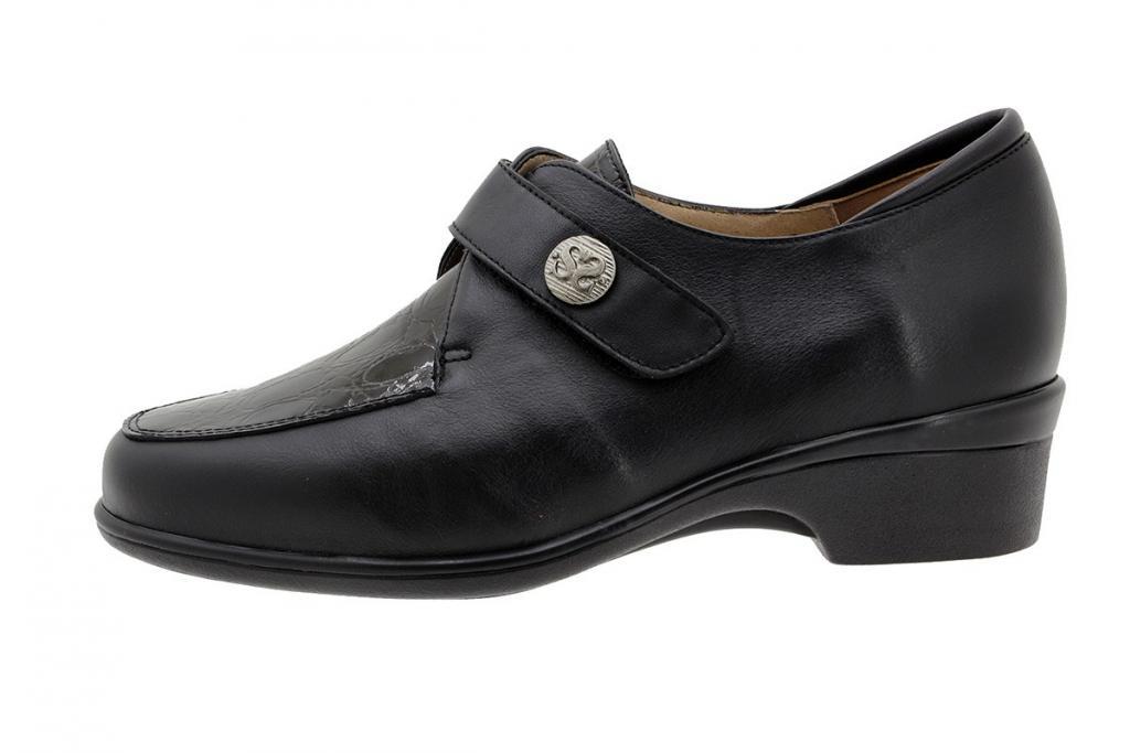 Velcro Shoe Black Leather 185604