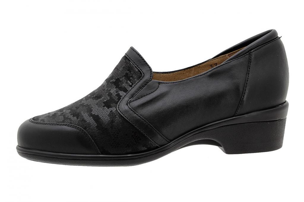Stretch Shoe Black Leather 185614