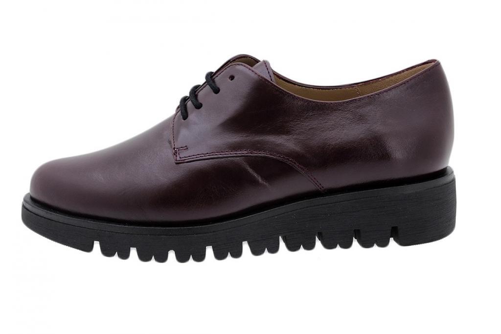 Lace-up Shoe Bordeaux Leather 185701