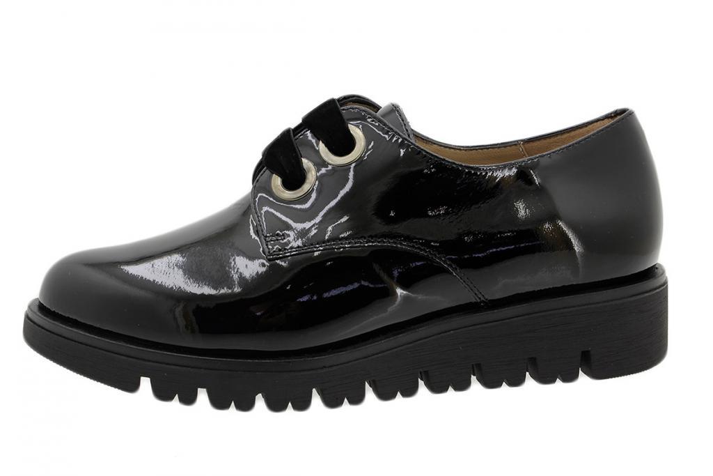Lace-up Shoe Black Patent 185702