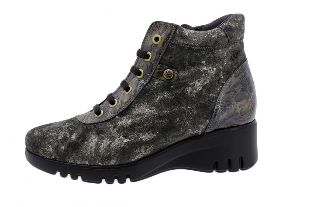 Ankle Boot Taupe Metal Suede 185912
