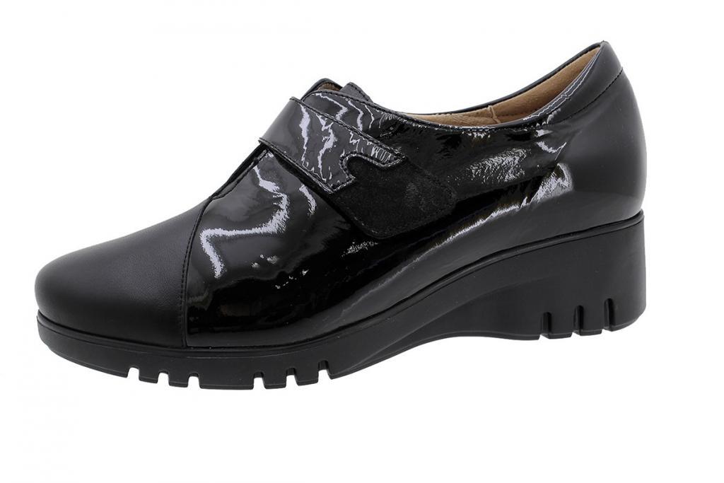 Velcro Shoe Black Leather 185922