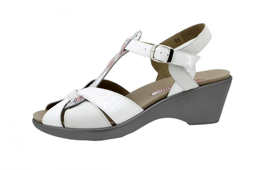 Removable Insole Sandal Patent White 1860