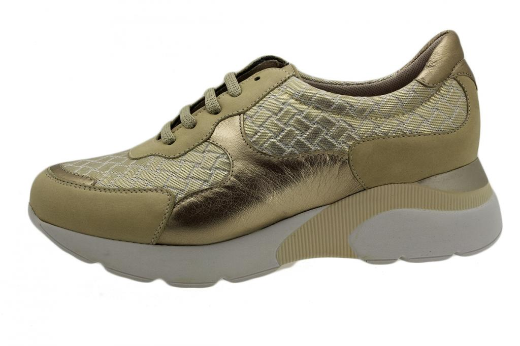 Sneaker Beige Leather 190075