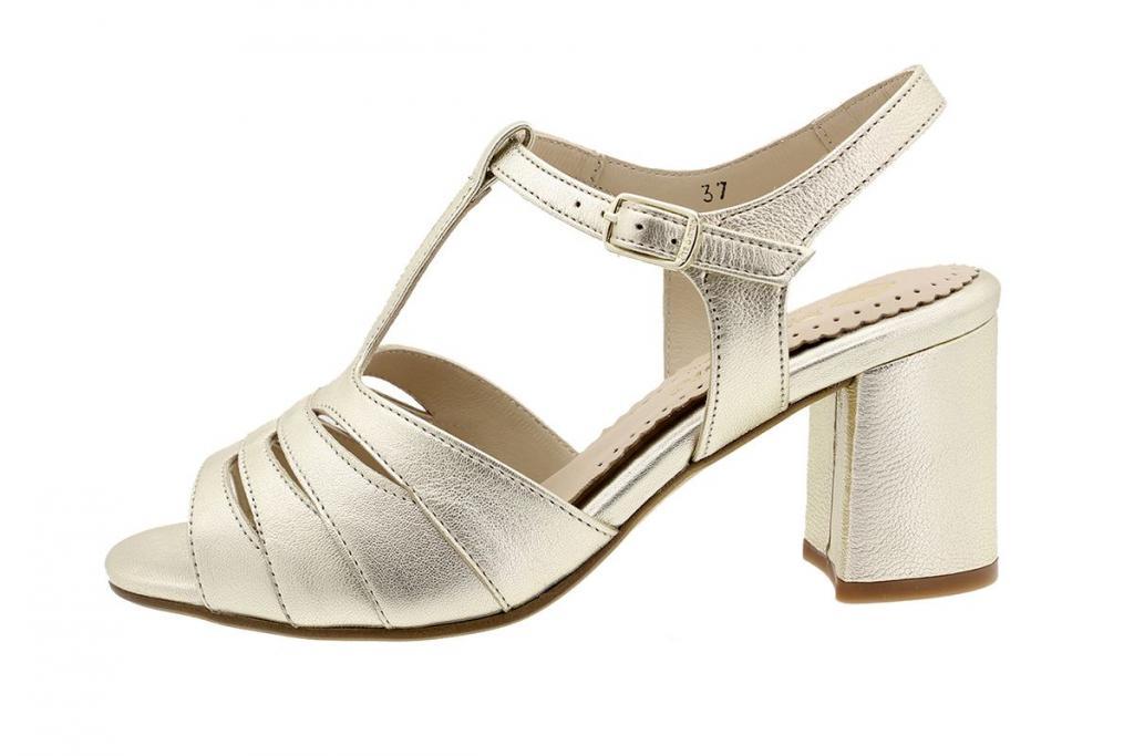 Heel Sandal Platinum Metal 190258