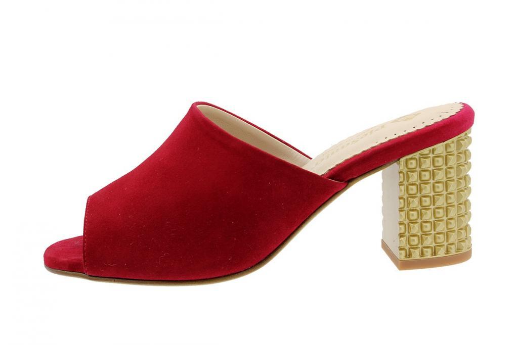 Heel Sandal Red Suede 190262
