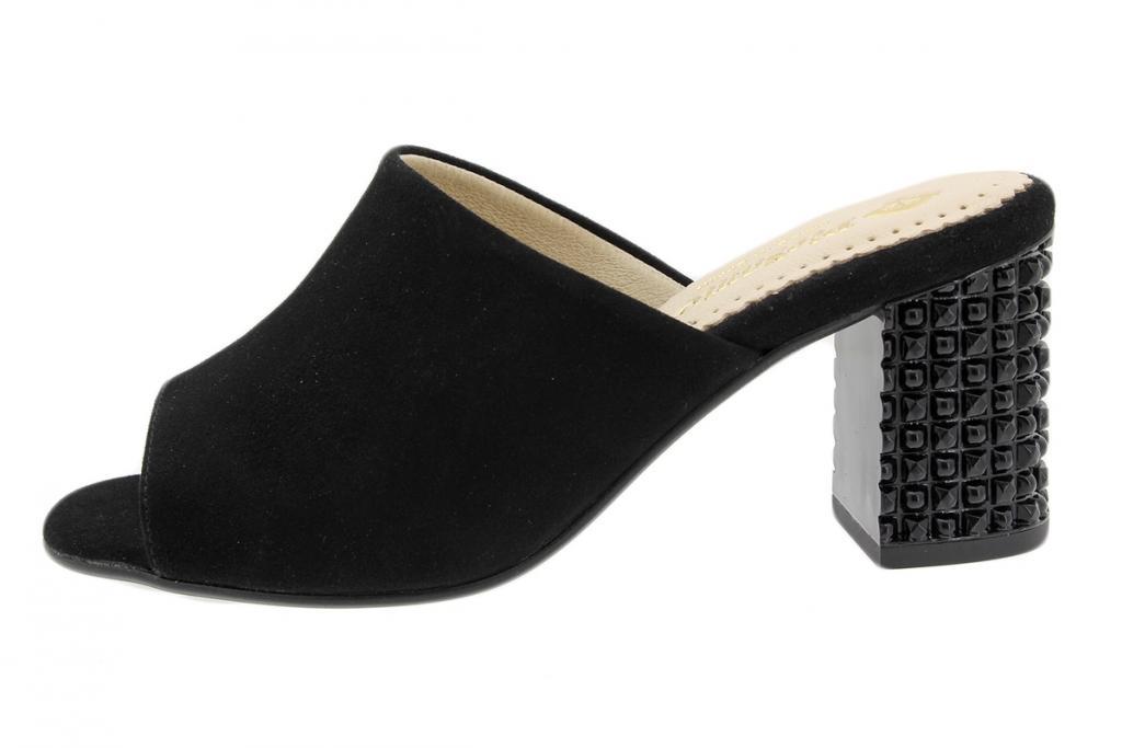 Heel Sandal Black Suede 190262