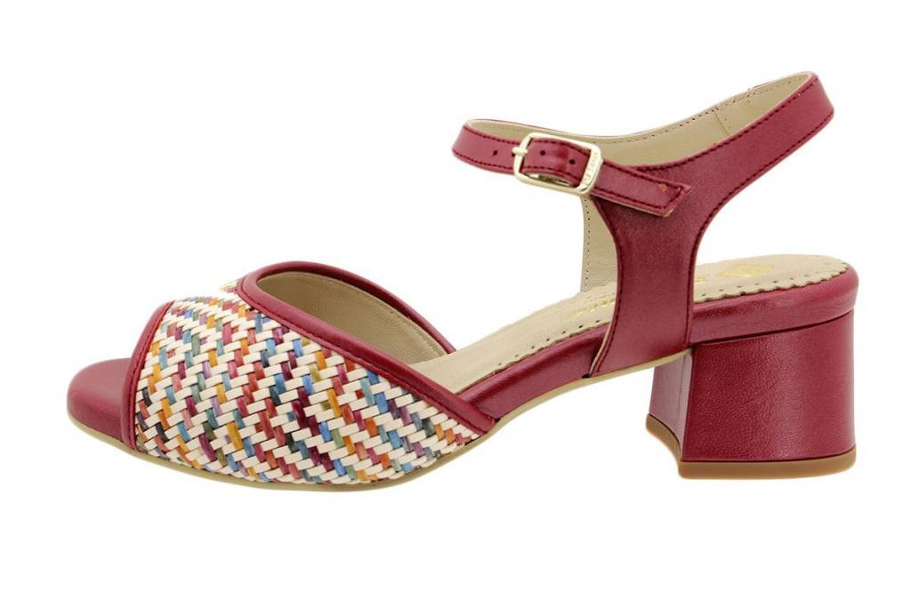 Heel Sandal Multi Red Woven 190286