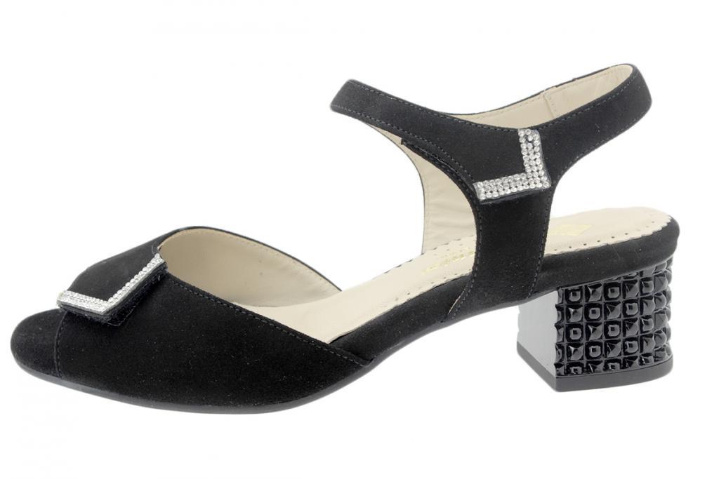 Heel Sandal Black Suede 190288