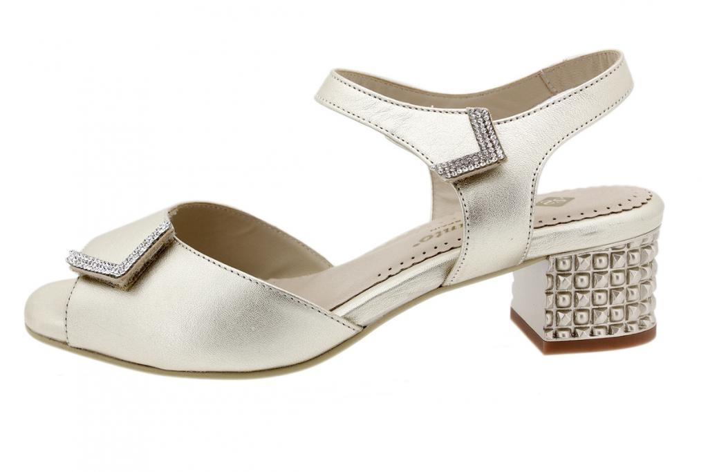 Heel Sandal Platinum Metal 190288