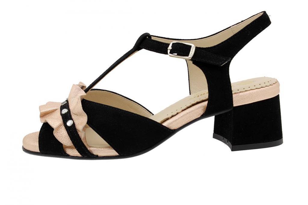 Heel Sandal Black Suede 190289