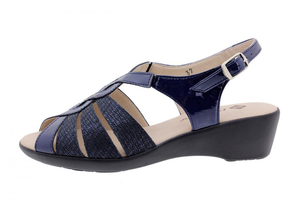 Wegde Sandal Blue Patent 190392