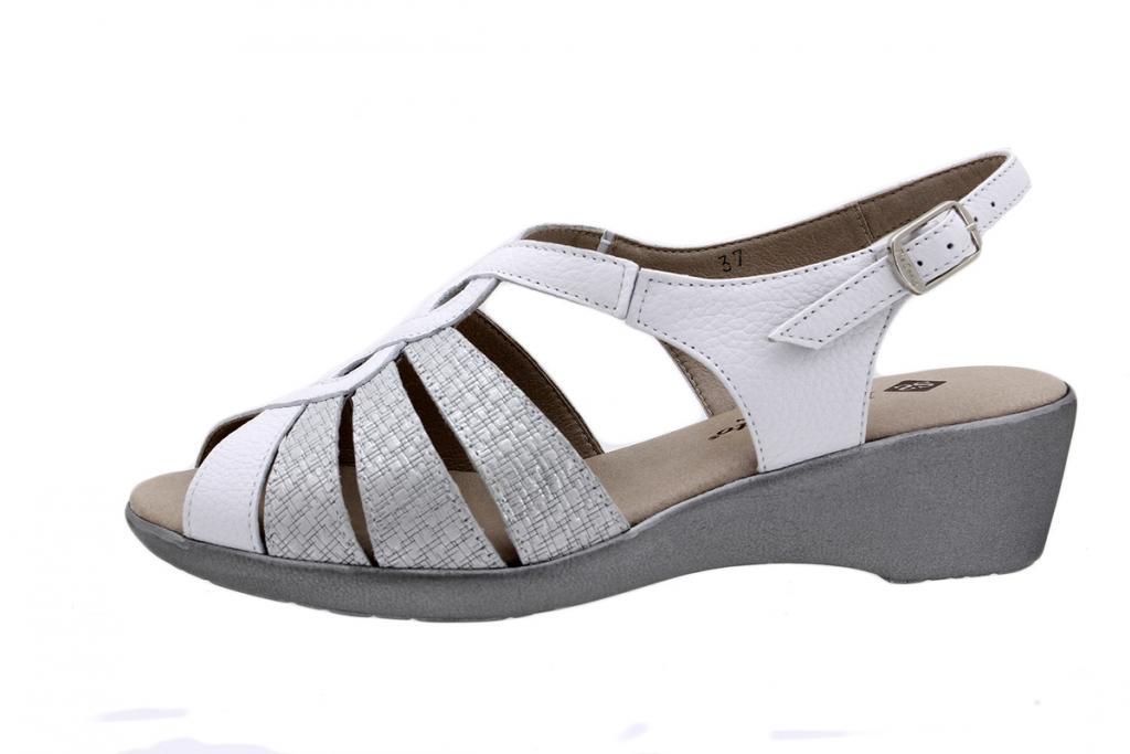Wegde Sandal White Leather 190392