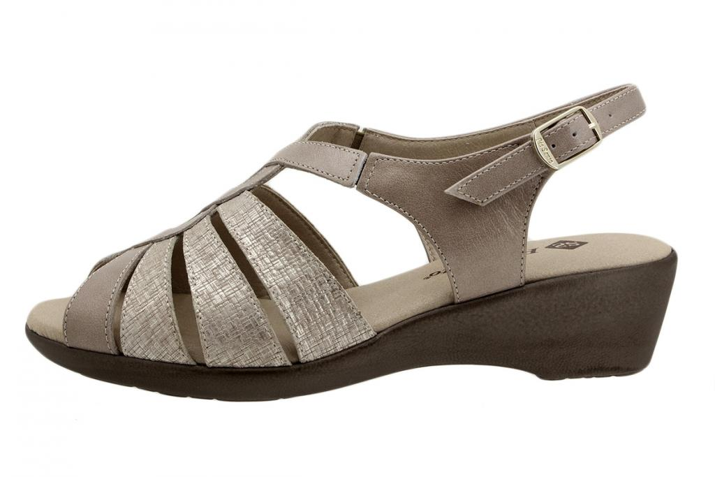 Wegde Sandal Mink Metal 190392