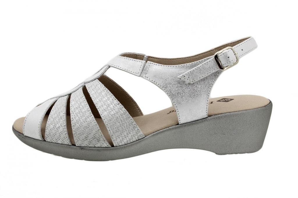 Wegde Sandal Pearl Metal Suede 190392