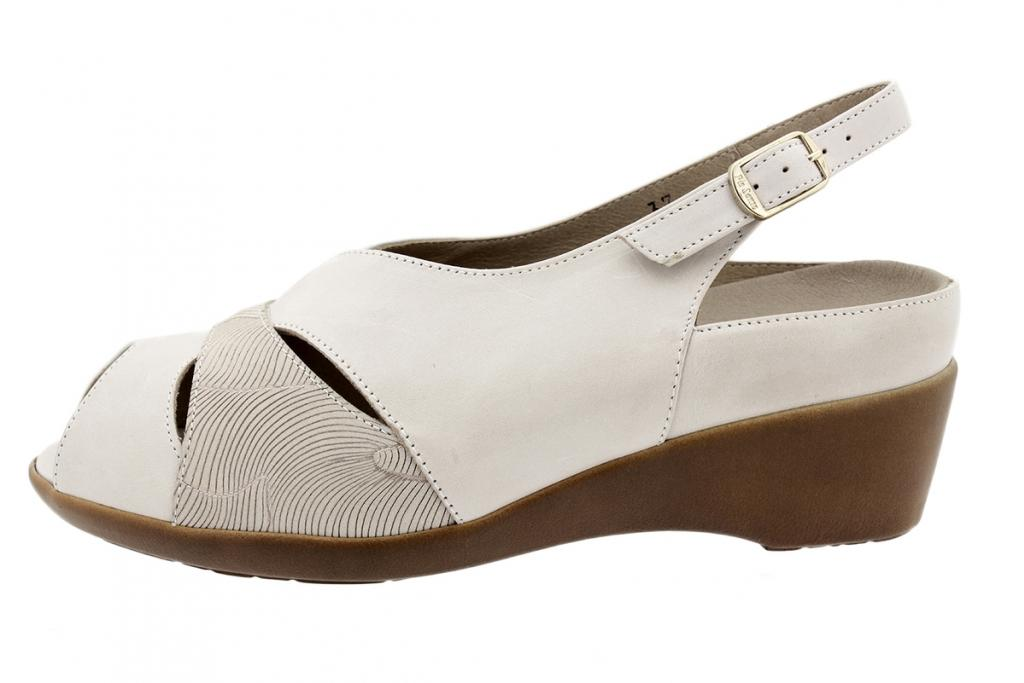 Removable Insole Sandal Beige Leather 190404