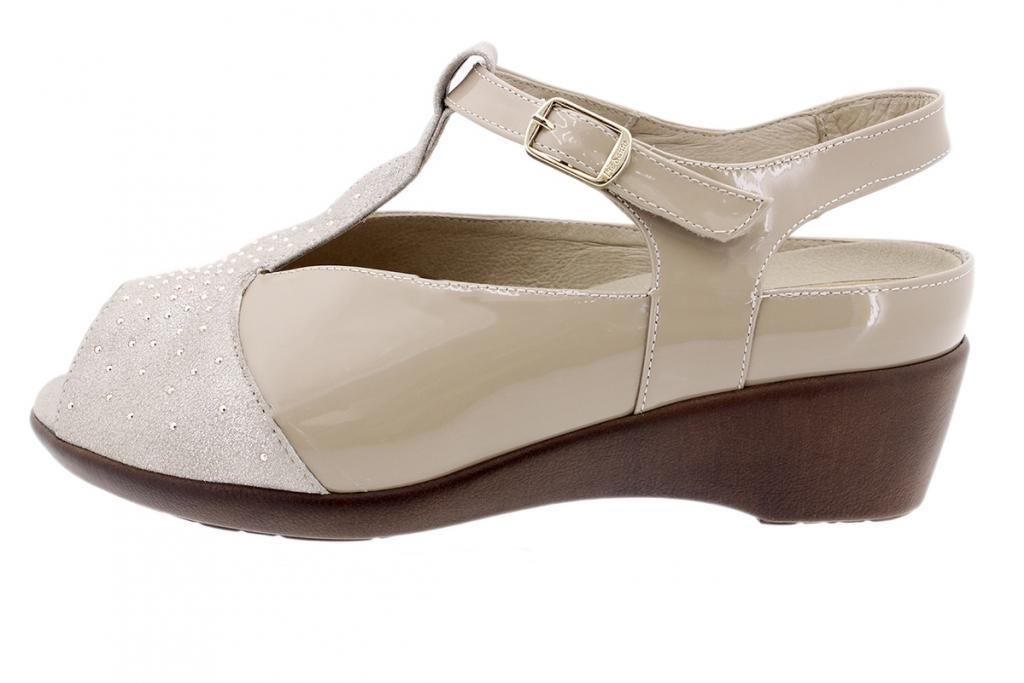 Removable Insole Sandal Mink Metal Suede 190409