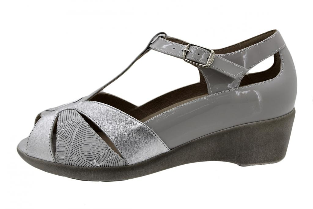 Removable Insole Sandal Silver Metal 190410