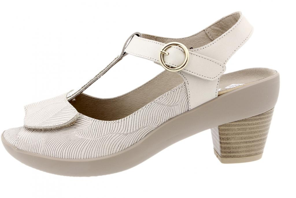 Removable Insole Sandal Beige Leather 190441