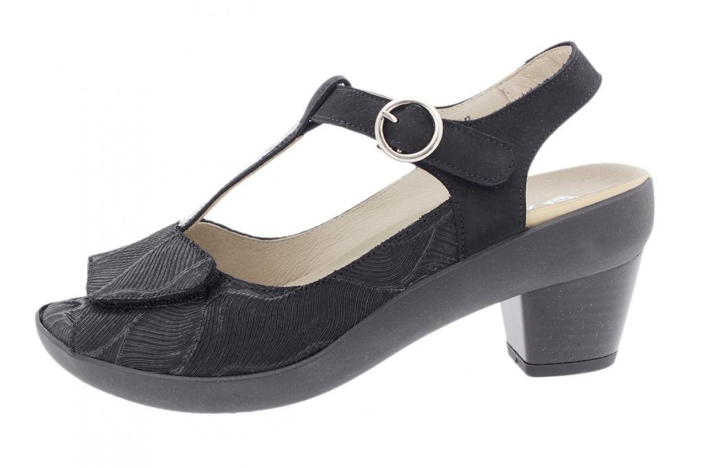 Removable Insole Sandal Black Leather 190441