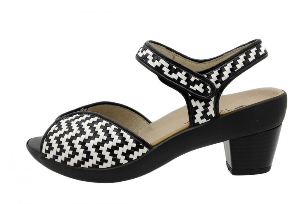 Removable Insole Sandal Black-White Interlaced 190443