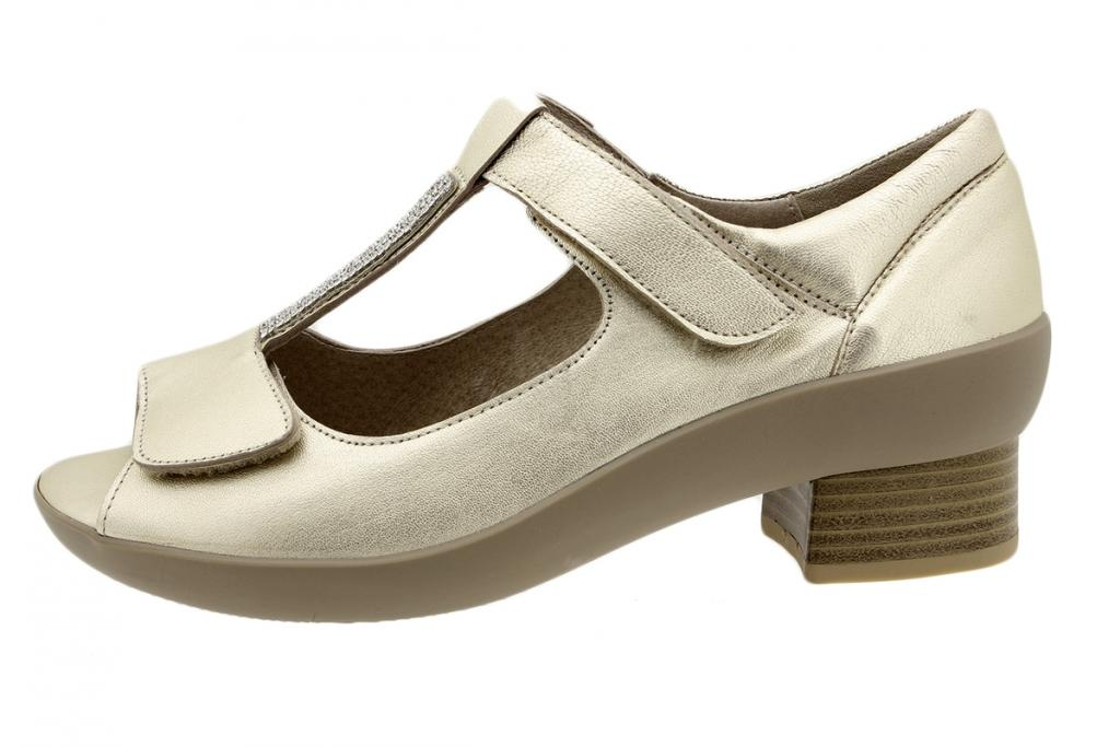 Removable Insole Sandal Platinum Metal 190447