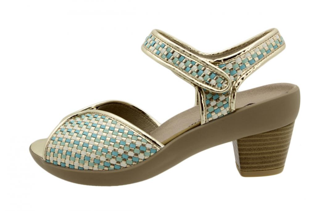 Removable Insole Sandal Turquoise Woven 190449