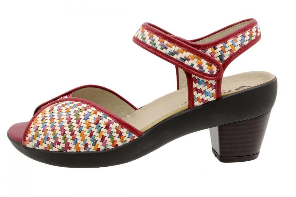 Removable Insole Sandal Multi Red Woven 190449